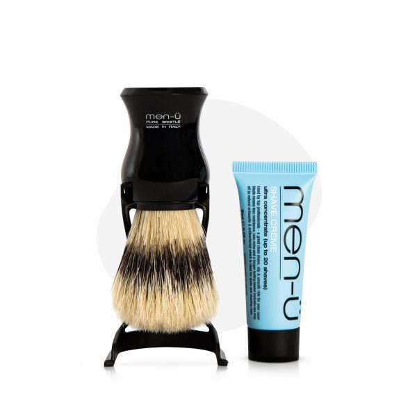 Barbiere Pure Bristle Shaving Brush (Black)