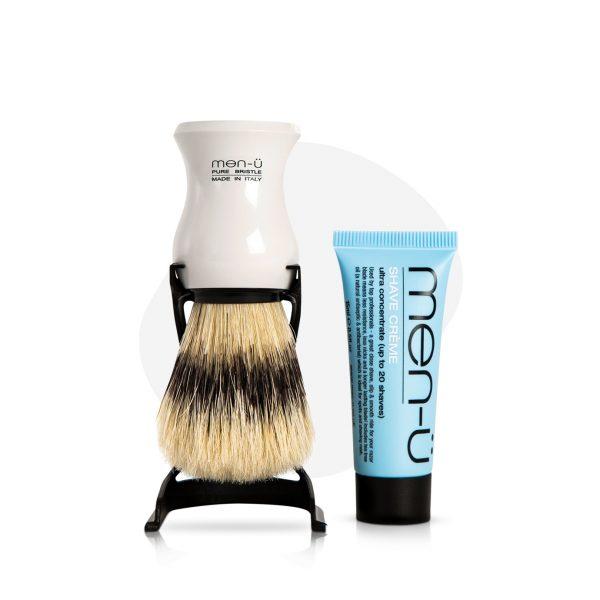 Barbiere Pure Bristle Shaving Brush (White)
